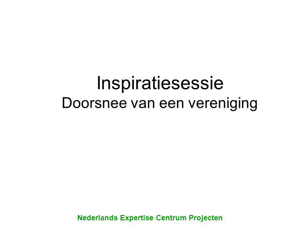 Inspiratiesessie Doorsnee van een vereniging Nederlands Expertise Centrum Projecten