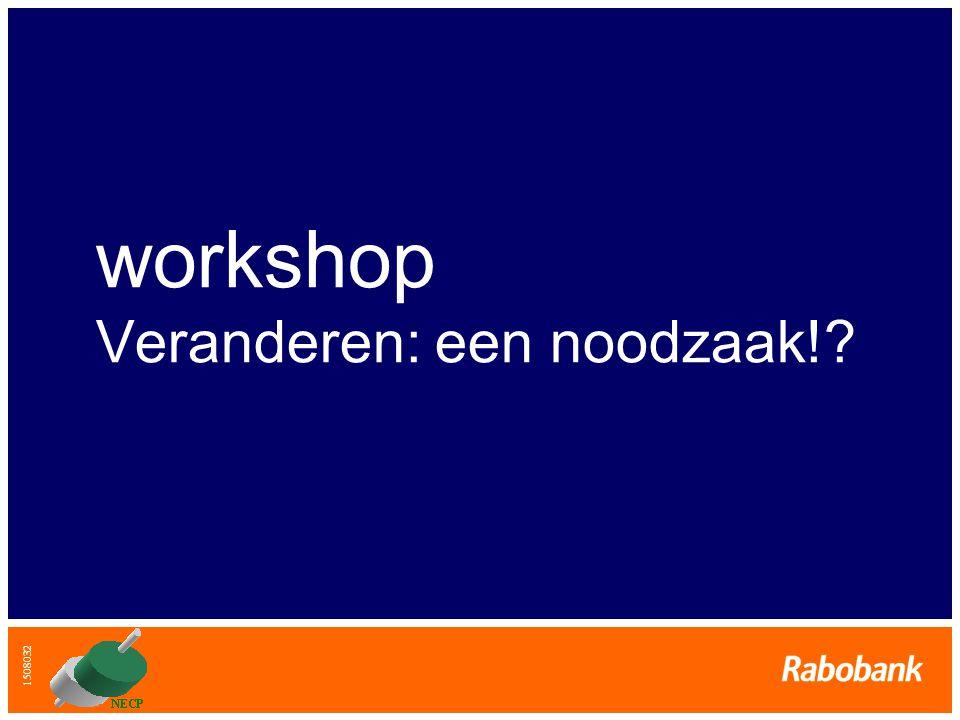 1508032 workshop Veranderen: een noodzaak!