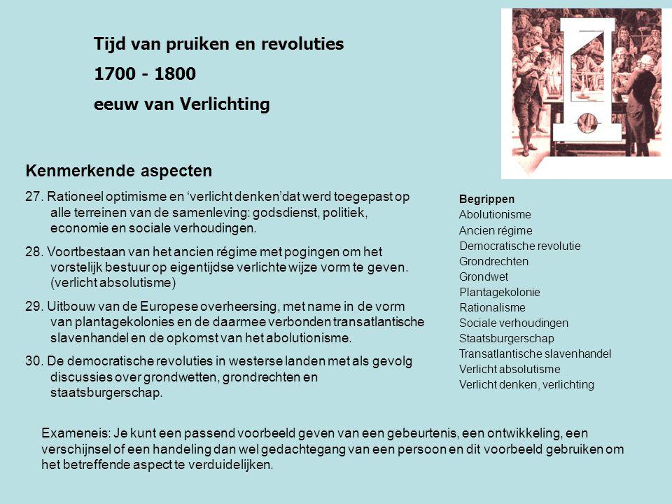 Tijd van burgers en stoommachines 1800 - 1900 Industrialisatietijd Kenmerkende aspecten 31.