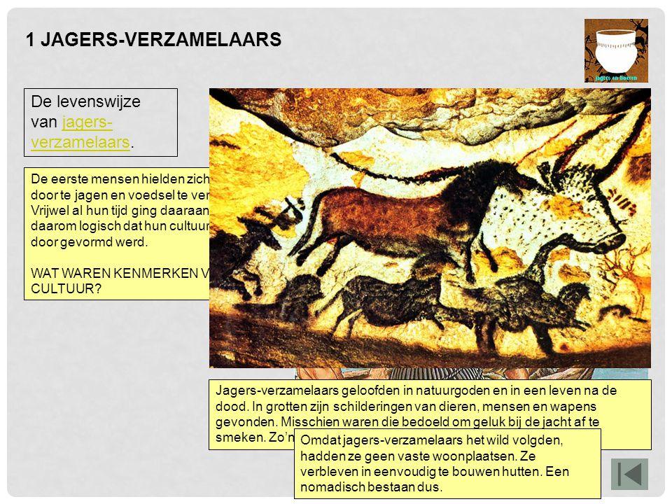 2 HET ONTSTAAN VAN LANDBOUW Deze afbeelding geeft een voorbeeld van een boerendorp uit de nieuwe steentijd.
