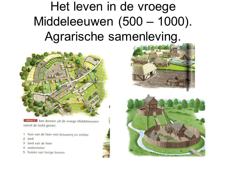 Het leven in de vroege Middeleeuwen (500 – 1000). Agrarische samenleving.