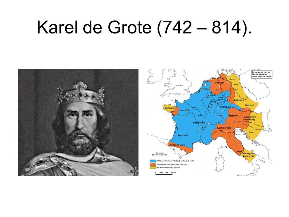 Karel de Grote (742 – 814).