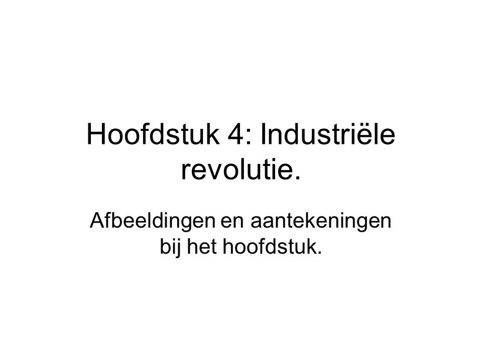 Hoofdstuk 4: Industriële revolutie. Afbeeldingen en aantekeningen bij het hoofdstuk.