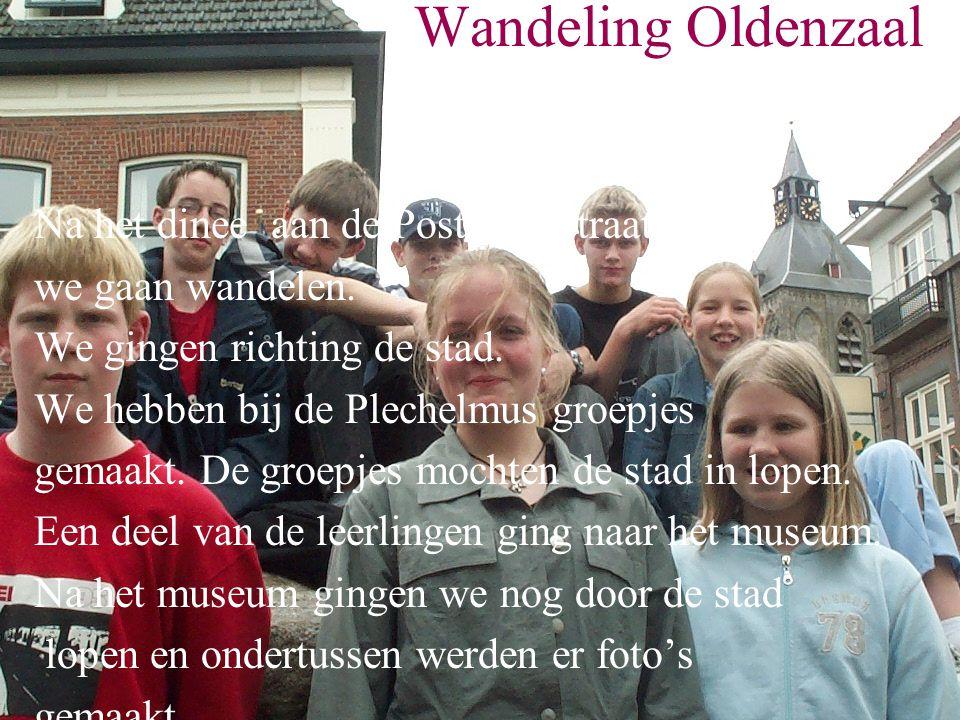 Wandeling Oldenzaal Na het dinee aan de Postkampstraat zijn we gaan wandelen.