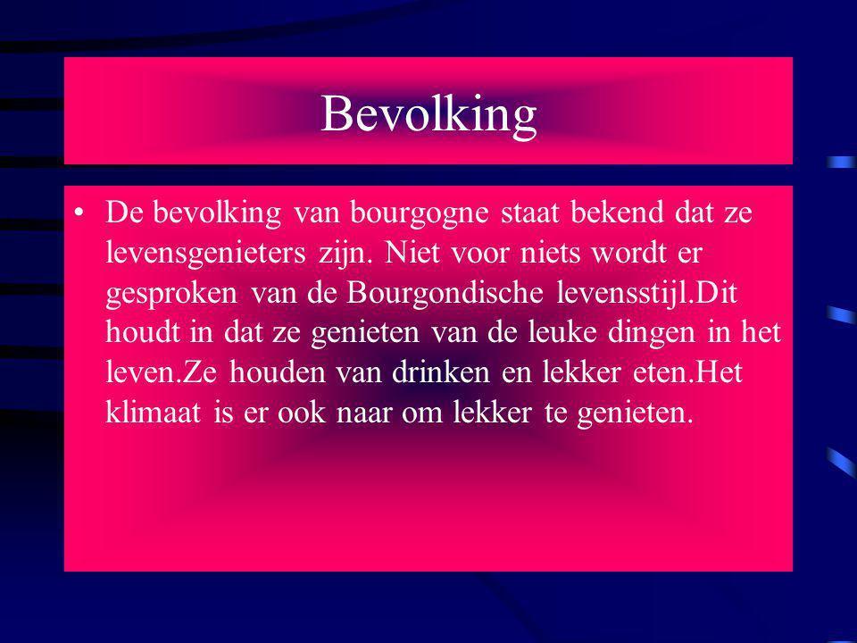 Bevolking De bevolking van bourgogne staat bekend dat ze levensgenieters zijn.