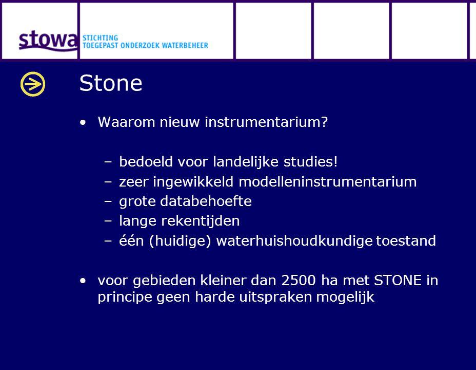 Stone Waarom nieuw instrumentarium. –bedoeld voor landelijke studies.