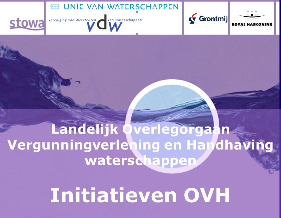 Landelijk Overlegorgaan Vergunningverlening en Handhaving waterschappen Initiatieven OVH