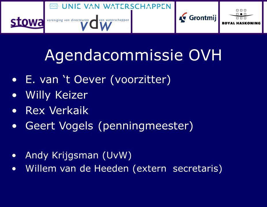 E. van 't Oever (voorzitter) Willy Keizer Rex Verkaik Geert Vogels (penningmeester) Andy Krijgsman (UvW) Willem van de Heeden (extern secretaris) Agen