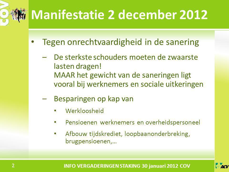 Klik om de stijl te bewerken INFO VERGADERINGEN STAKING 30 januari 2012 COV Tot 31-12-2011 Rustpensioen = aanneembare diensten x refertewedde (gem.