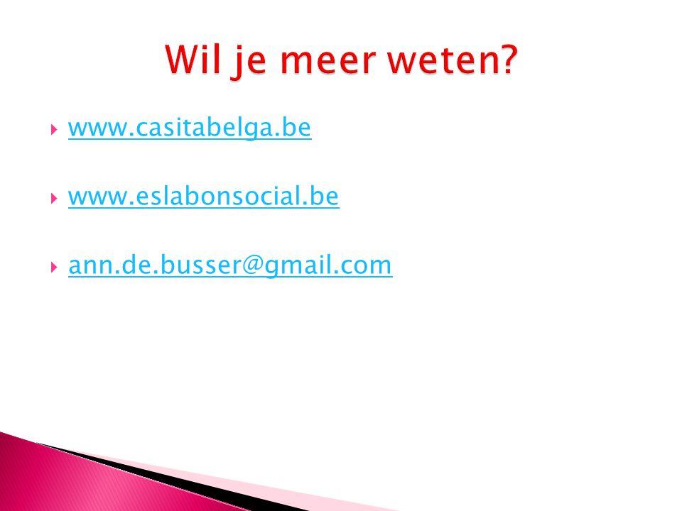  www.casitabelga.be www.casitabelga.be  www.eslabonsocial.be www.eslabonsocial.be  ann.de.busser@gmail.com ann.de.busser@gmail.com