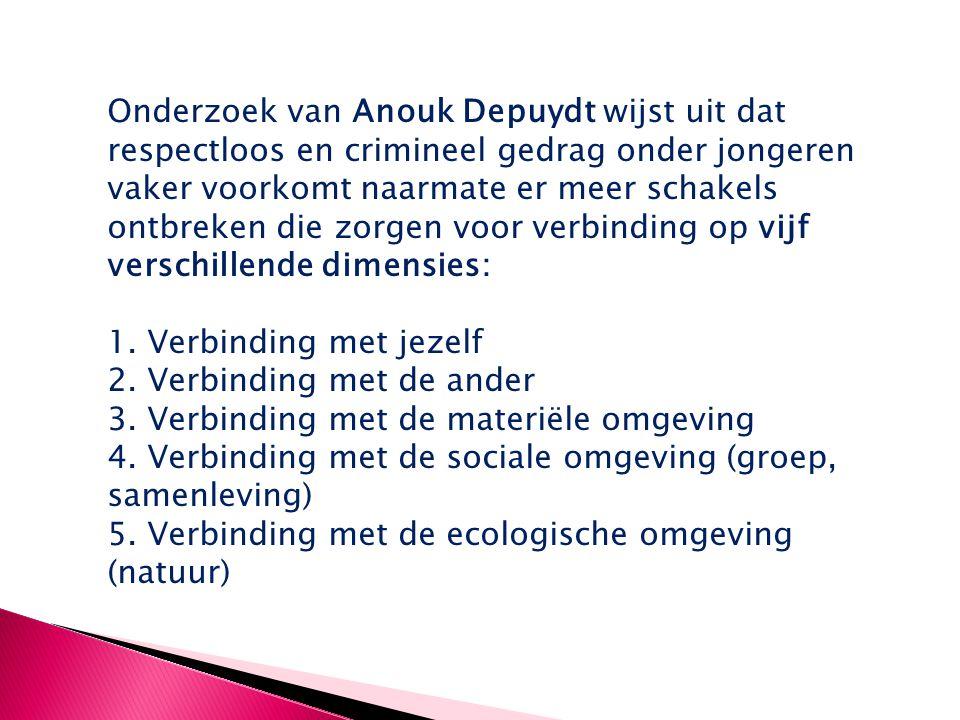 Onderzoek van Anouk Depuydt wijst uit dat respectloos en crimineel gedrag onder jongeren vaker voorkomt naarmate er meer schakels ontbreken die zorgen