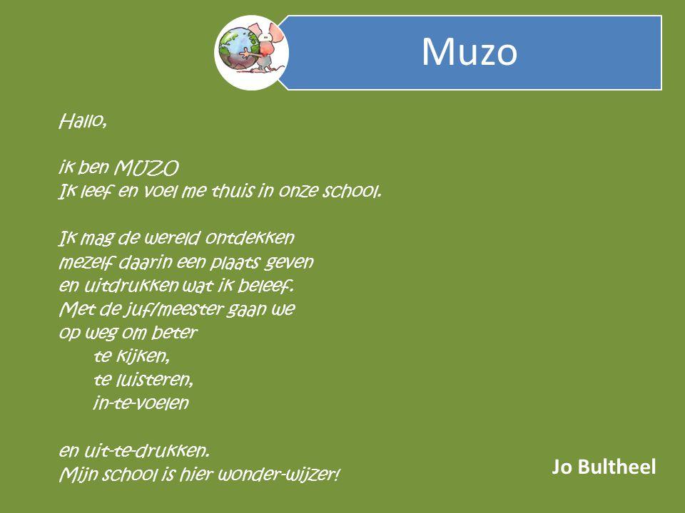 Jo Bultheel Muzo Hallo, ik ben MUZO Ik leef en voel me thuis in onze school.