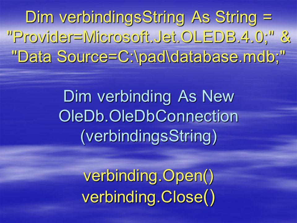 Dim verbindingsString As String =