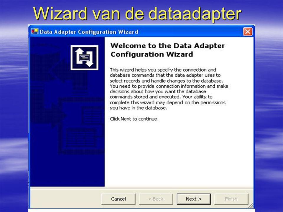 Wizard van de dataadapter