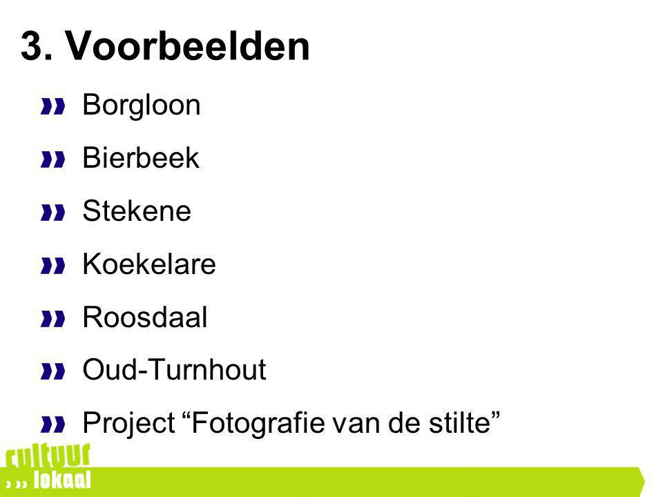 """3. Voorbeelden Borgloon Bierbeek Stekene Koekelare Roosdaal Oud-Turnhout Project """"Fotografie van de stilte"""""""