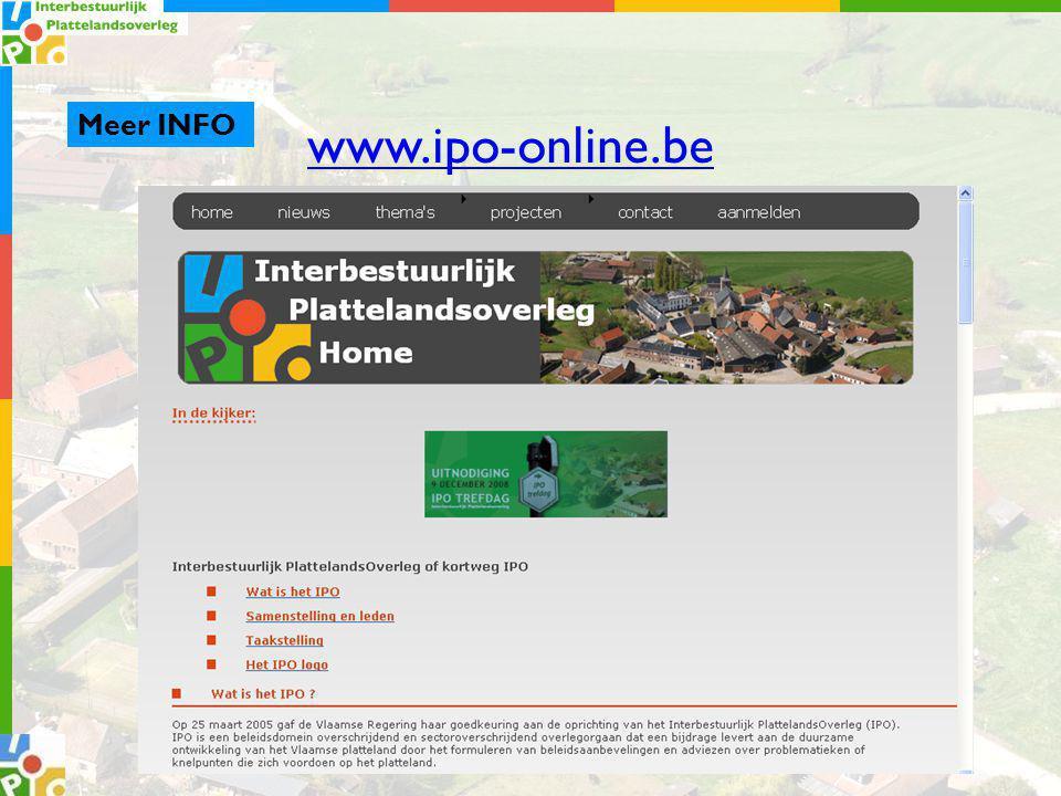 Meer INFO www.ipo-online.be