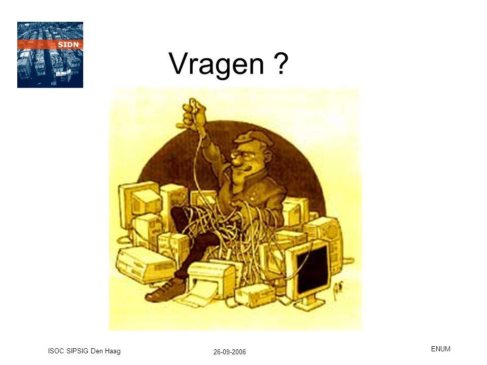 26-09-2006 ISOC SIPSIG Den Haag ENUM Vragen