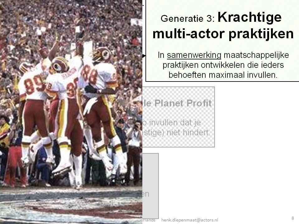 © Henk Diepenmaat Actors Procesmanagement BV Zeist the Netherlands henk.diepenmaat@actors.nl 1: Generaties in duurzaamheid 8