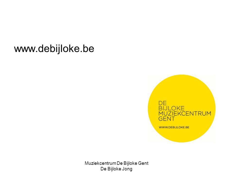 Muziekcentrum De Bijloke Gent De Bijloke Jong www.debijloke.be