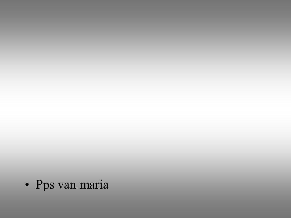 Pps van maria