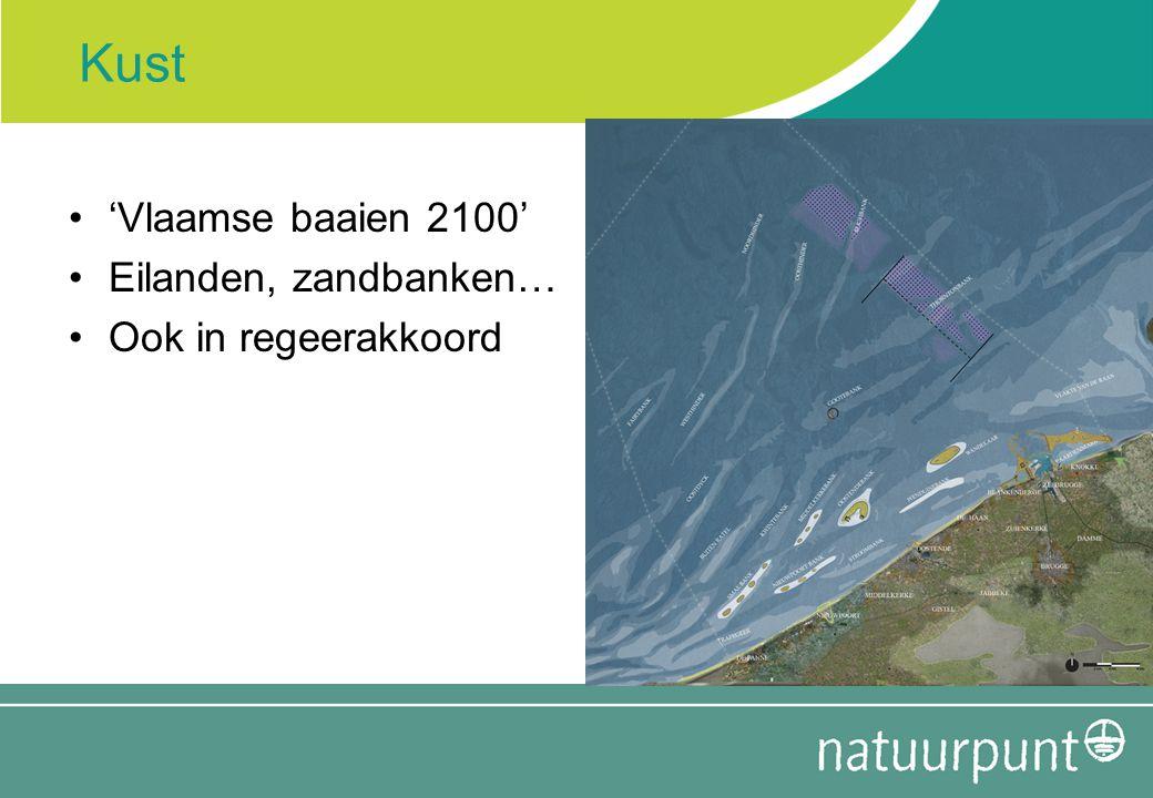 Kust 'Vlaamse baaien 2100' Eilanden, zandbanken… Ook in regeerakkoord