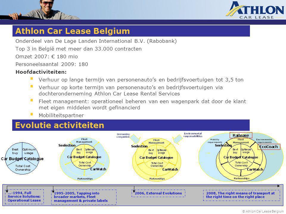 © Athlon Car Lease Belgium Athlon Car Lease Belgium Onderdeel van De Lage Landen International B.V.