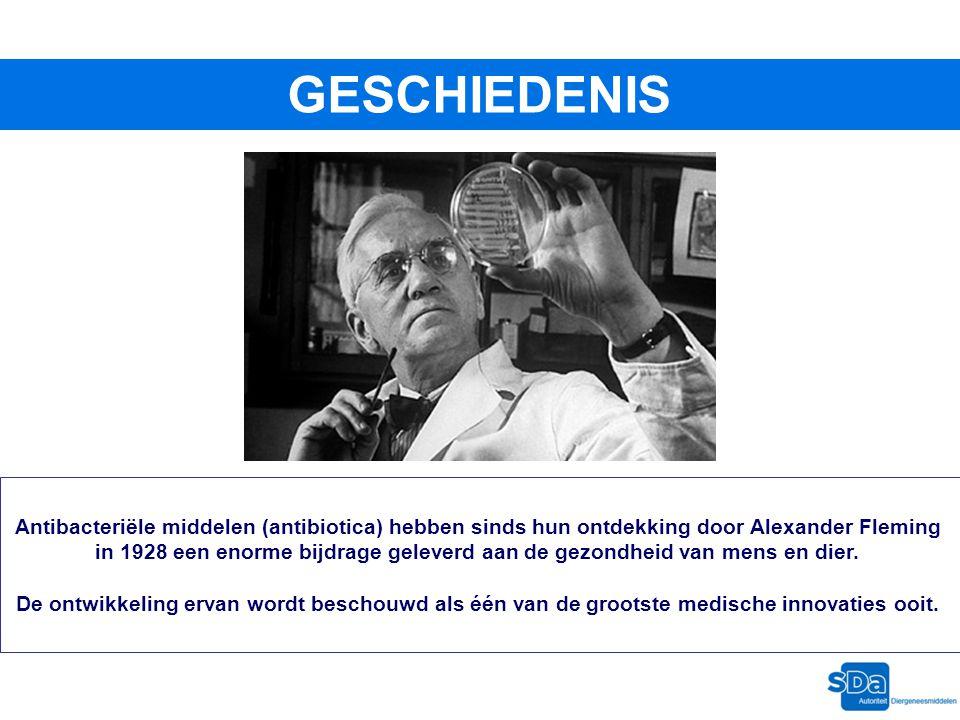 Antibacteriële middelen (antibiotica) hebben sinds hun ontdekking door Alexander Fleming in 1928 een enorme bijdrage geleverd aan de gezondheid van me