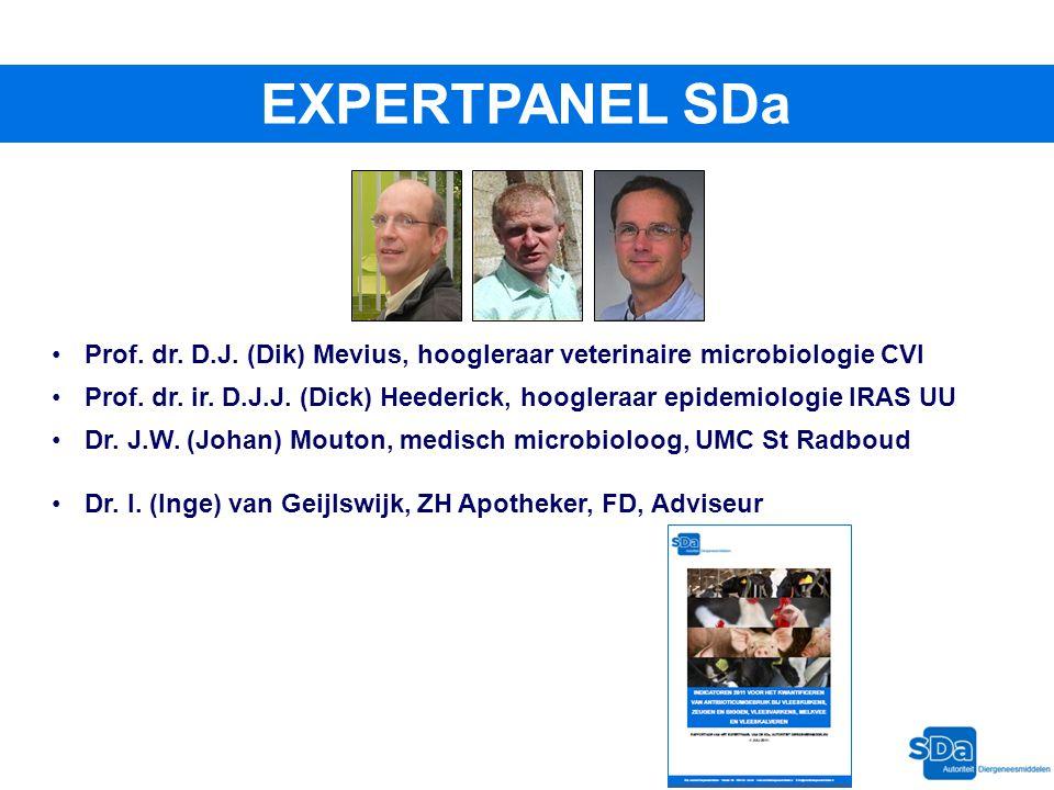 Prof. dr. D.J. (Dik) Mevius, hoogleraar veterinaire microbiologie CVI Prof. dr. ir. D.J.J. (Dick) Heederick, hoogleraar epidemiologie IRAS UU Dr. J.W.