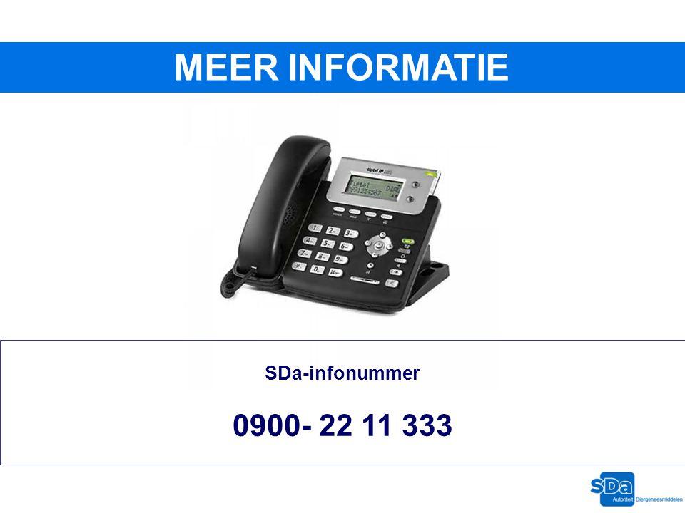 MEER INFORMATIE SDa-infonummer 0900- 22 11 333