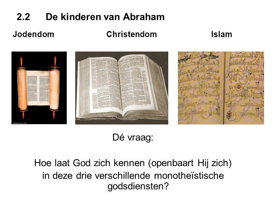 Jodendom Christendom Islam Dé vraag: Hoe laat God zich kennen (openbaart Hij zich) in deze drie verschillende monotheïstische godsdiensten