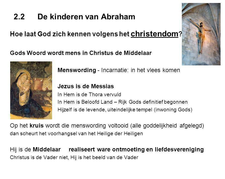 2.2De kinderen van Abraham Hoe laat God zich kennen volgens het christendom .