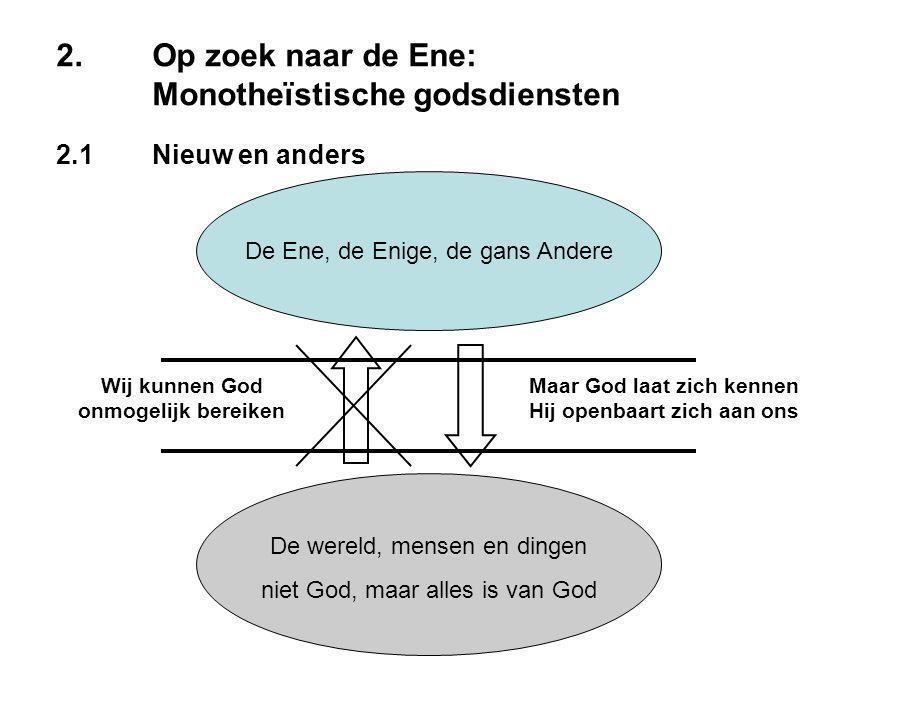 2.Op zoek naar de Ene: Monotheïstische godsdiensten 2.1Nieuw en anders 2.2De kinderen van Abraham