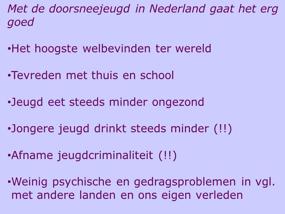Met de doorsneejeugd in Nederland gaat het erg goed Het hoogste welbevinden ter wereld Tevreden met thuis en school Jeugd eet steeds minder ongezond J