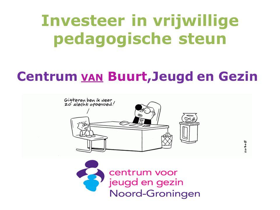 Investeer in vrijwillige pedagogische steun Centrum VAN Buurt,Jeugd en Gezin