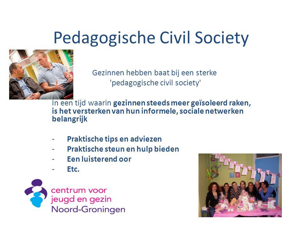 Pedagogische Civil Society Gezinnen hebben baat bij een sterke 'pedagogische civil society' In een tijd waarin gezinnen steeds meer geïsoleerd raken,