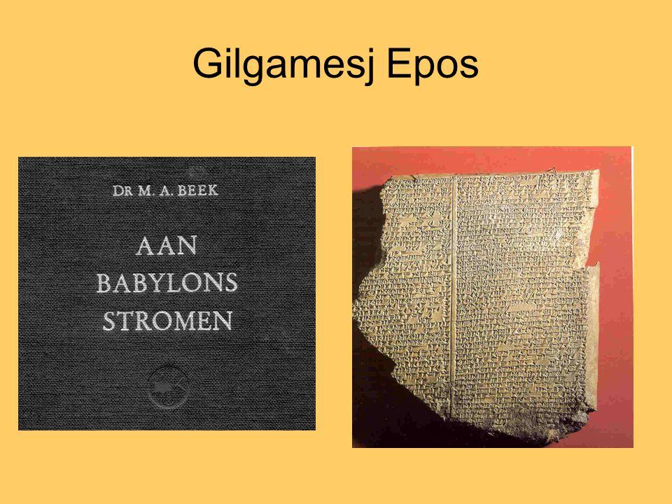 Inwoners van Uruk smeken haar god Isjtar bevrijd te worden van held en koning Gilgamesj.