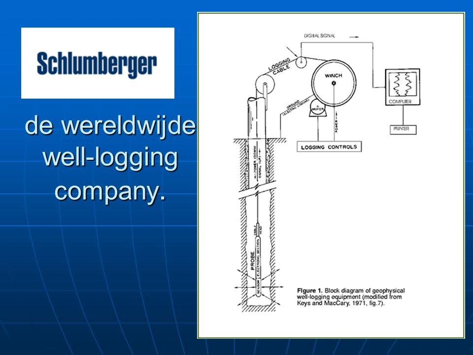de wereldwijde well-logging company.