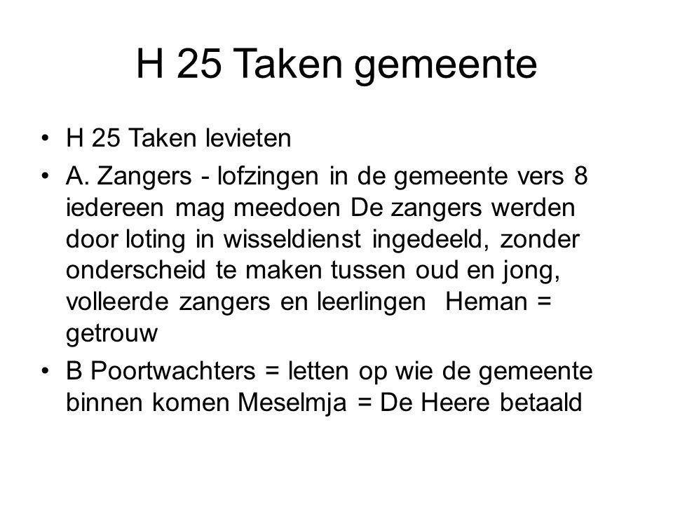 H 25 Taken gemeente H 25 Taken levieten A.