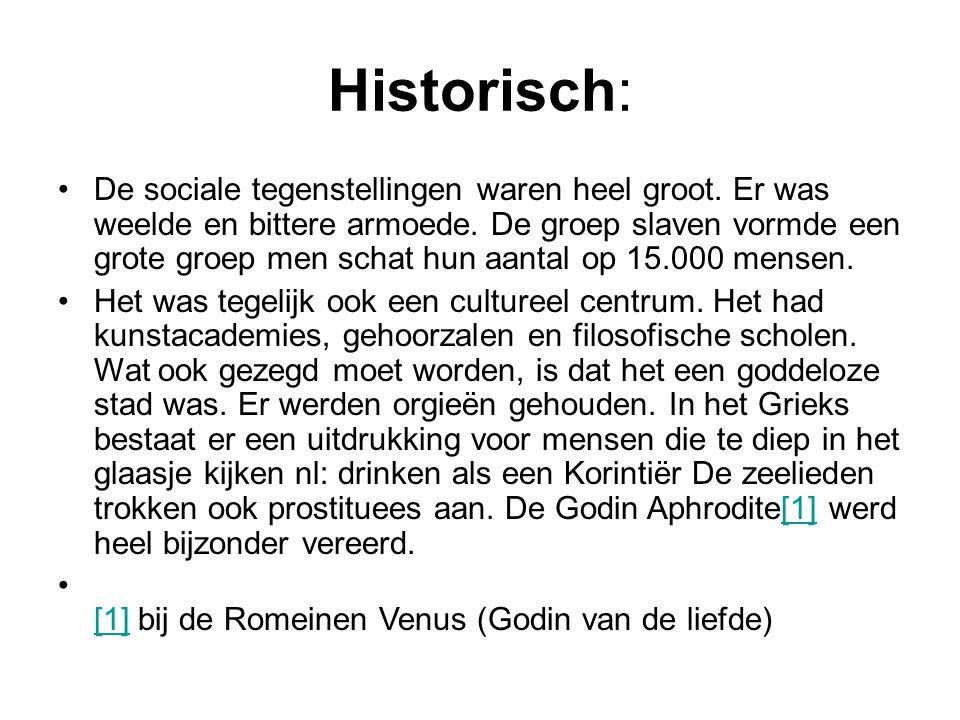 Historisch: De sociale tegenstellingen waren heel groot.