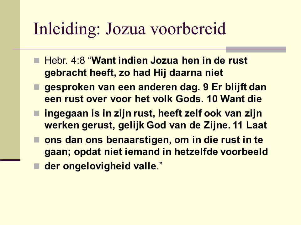 Inleiding: Jozua voorbereid Hebr.