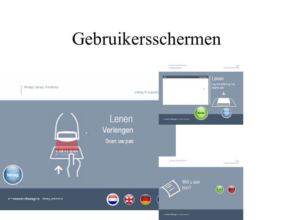 Gebruikersschermen
