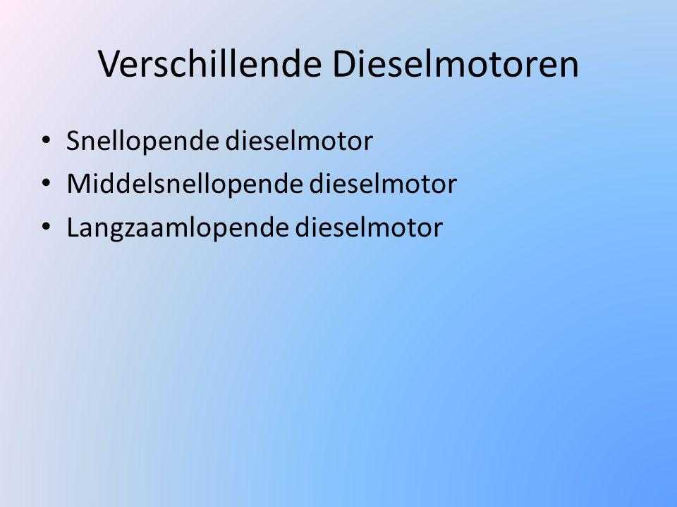 Verschillende Dieselmotoren Snellopende dieselmotor Middelsnellopende dieselmotor Langzaamlopende dieselmotor