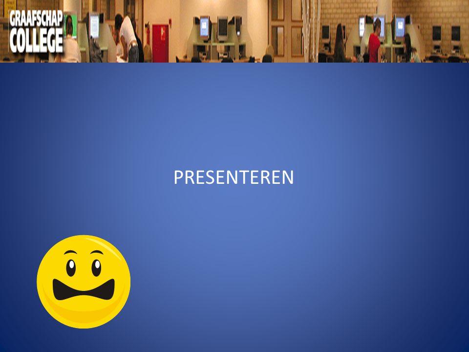 Stappenplan presenteren A : Informatie verzamelen B : Informatie ordenen C : Taalgebruik en houding D : Oefenen E : Presentatie houden