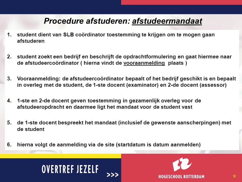 8 De afstudeer-site http://www.cmi-campus.nl;http://www.cmi-campus.nl Overzicht bedrijven; Overzicht afstudeerplaatsen; Afstudeermodule; Kijk eens bij andere afstudeerders ;andere N@tschool, kennisbank; Plaats je CV op de site; Abonneer je op nieuw aangeboden plaatsen/vacatures.