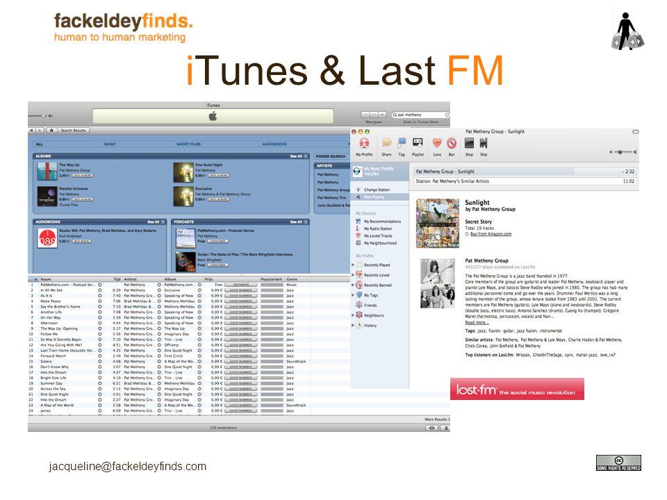 jacqueline@fackeldeyfinds.com iTunes & Last FM