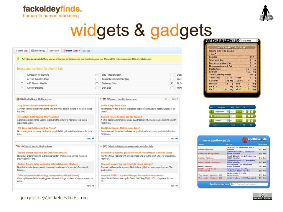 jacqueline@fackeldeyfinds.com widgets & gadgets