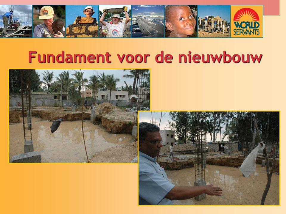 Fundament voor de nieuwbouw