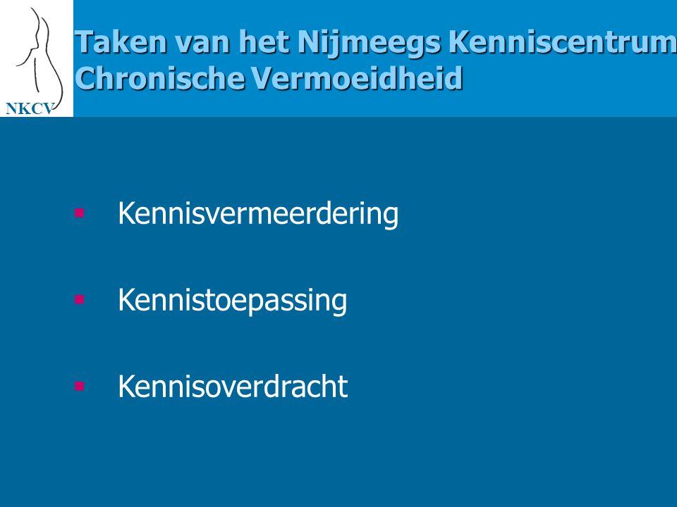 NKCV  Website voor scientists: www.umcn.nl/chronicfatigue  Website voor patiënten: www.umcn.nl/nkcv  Informatieboekje Informatie over het NKCV