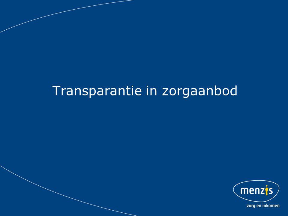 Transparantie in zorgaanbod