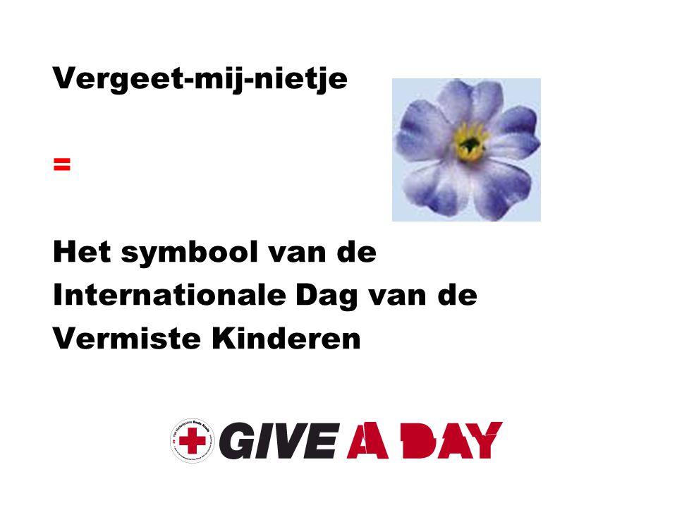 Vergeet-mij-nietje = Het symbool van de Internationale Dag van de Vermiste Kinderen